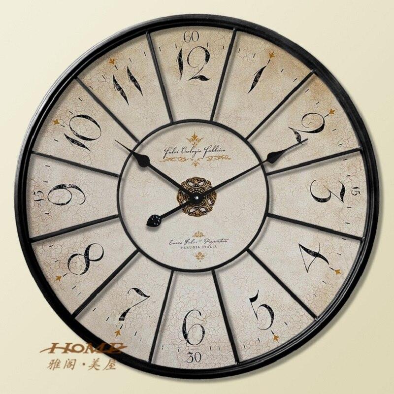 60cm large wall clock saat clock duvar saati reloj horloge - Horloge murale 60 cm ...