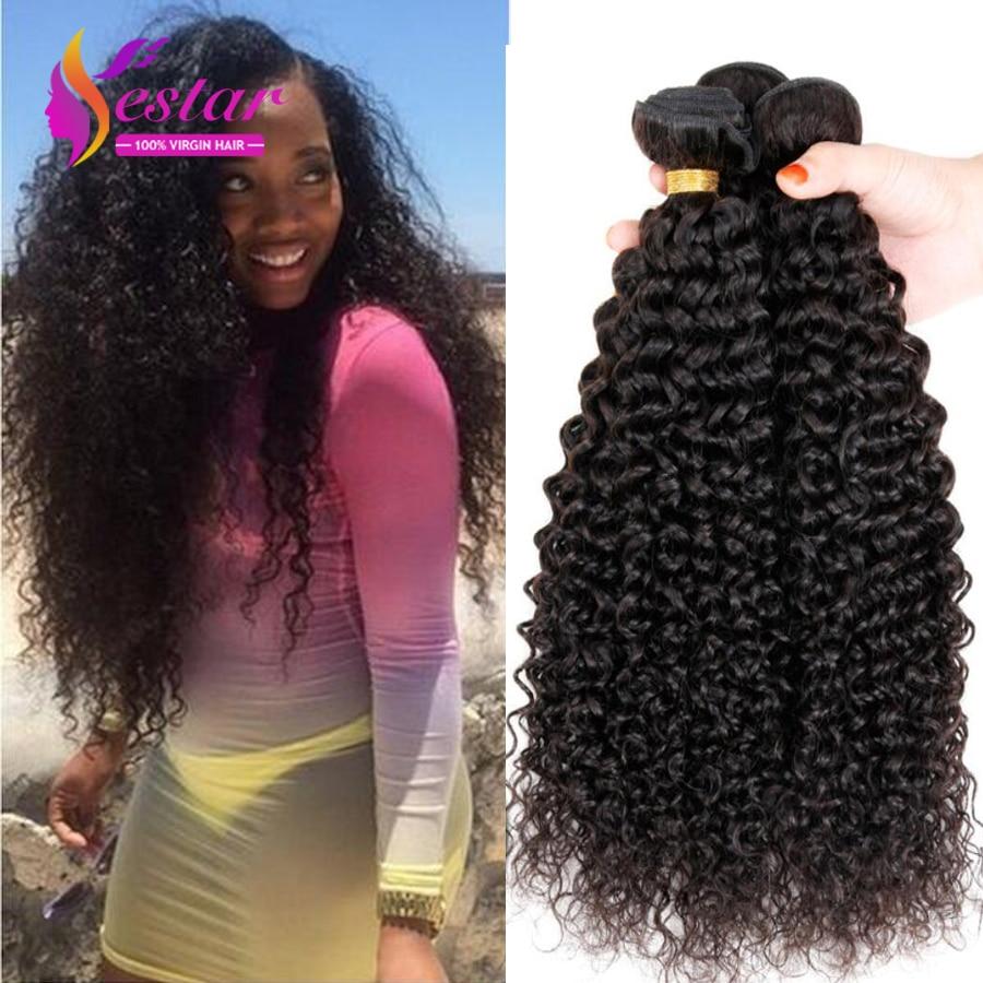 Brazilian Curly Virgin Hair 3pcs Brazilian Virgin Hair Kinky Curly 7A Unprocessed Crochet Braids ...