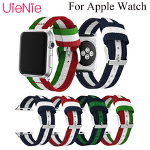 цена на Smart watch band For Apple Watch 40mm 44mm 38mm 42mm Colorful striped nylon strap for Apple Watch series 4 3 2 1 iWatch bracelet