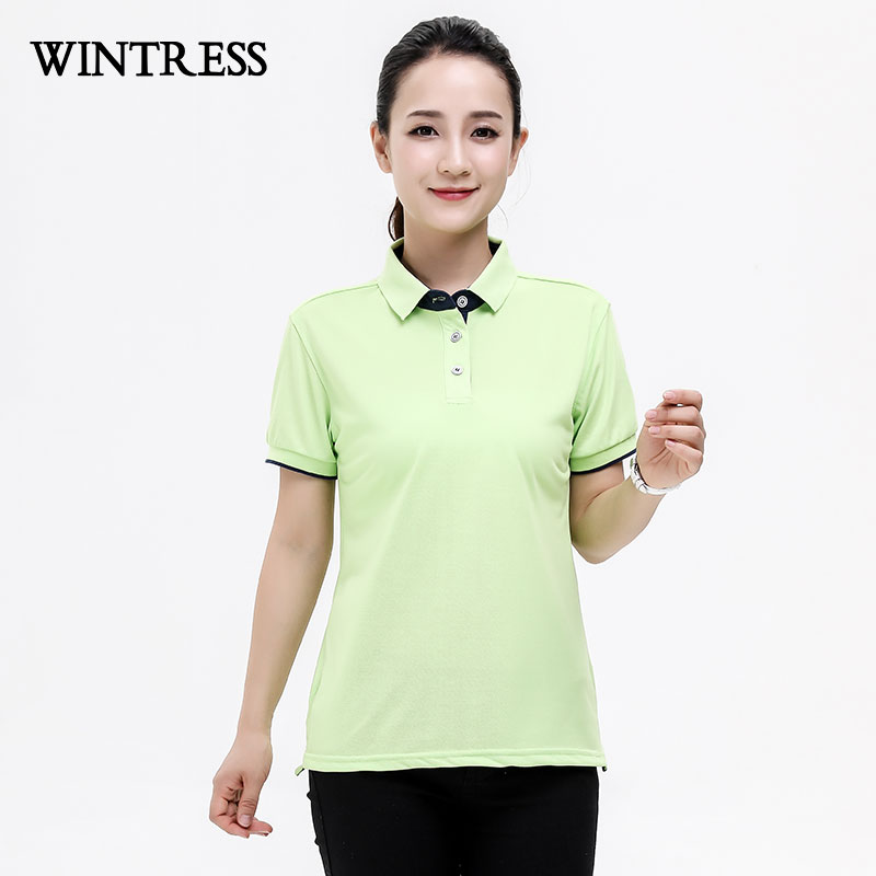 6edcc497 WINTRESS Natural Color Summer Women Polo Shirt Short Sleeve Solid Bump Side  All Match Polo Shirt Custom Logo-in Polo Shirts from Women's Clothing on ...