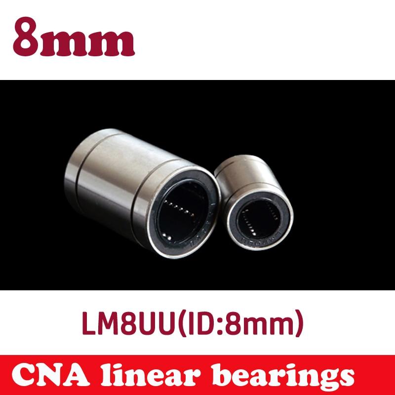 Free shipping LM8UU Linear Bushing 8mm CNC Linear Bearings 10pcs/lot free shipping lm50uu linear bushing 50mm cnc linear bearings