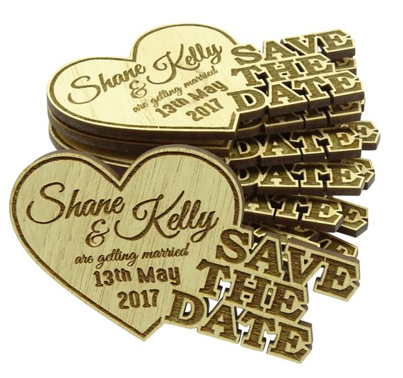 Rustic Save The Dates Wooden Save the date Magnet Wood Custom Magnets MG85 Personalized Engraved Magnets 20 Rustic Wooden Magnets