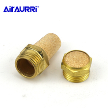 Fitting Noise Filter Reducer Connector Copper Pneumatic Brass Exhaust Muffler BSL M5 1/8