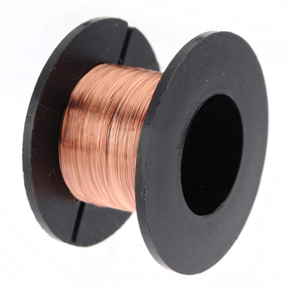 Горячая 15 м 0,1 мм медная пайка пайки эмалированные катушки провода рулон соединения