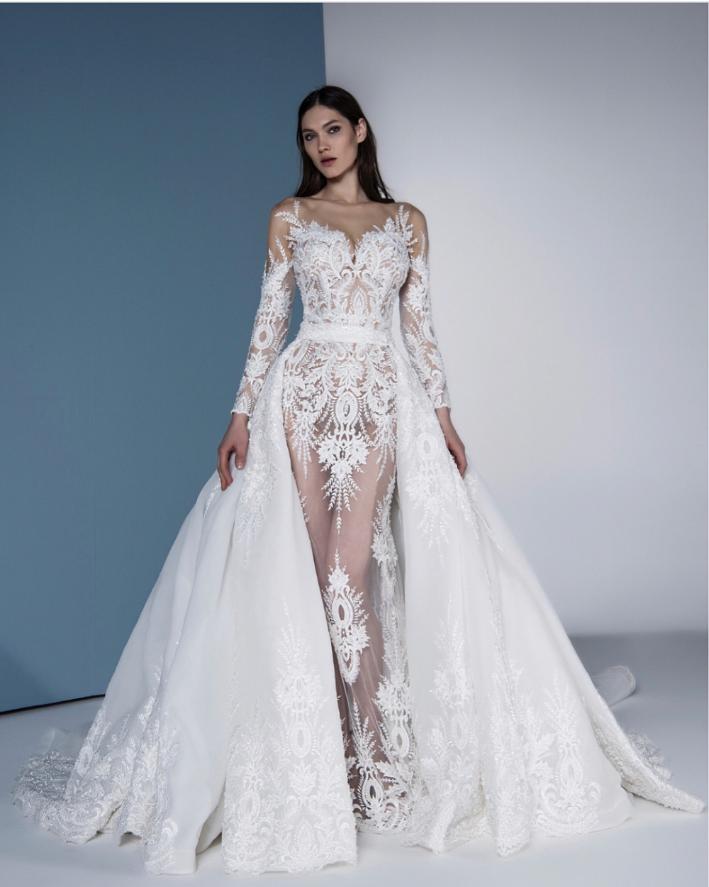 2019 Wedding Dresses With Sleeves: Aliexpress.com : Buy Eslieb High End Free Shipping Lace
