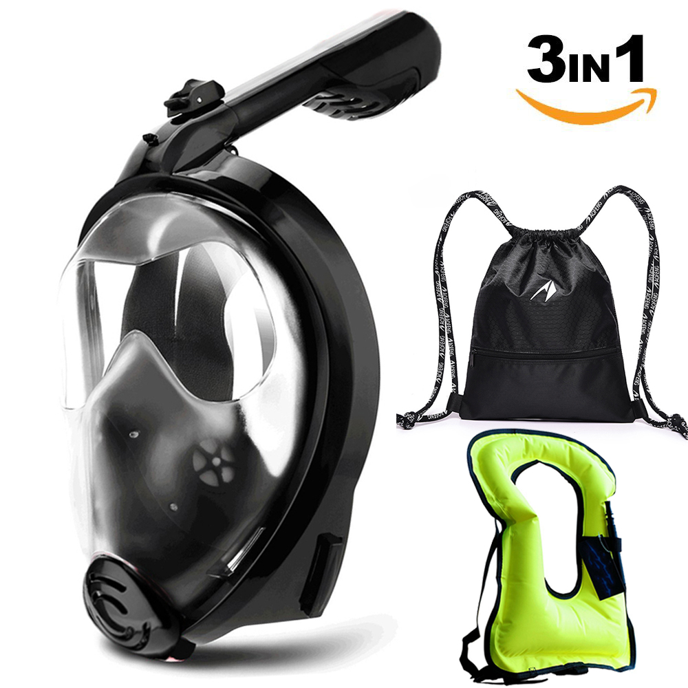silicone full diving mask scuba snorkeling diving equipment scuba snorkel mask for swimming underwater mask scuba gear