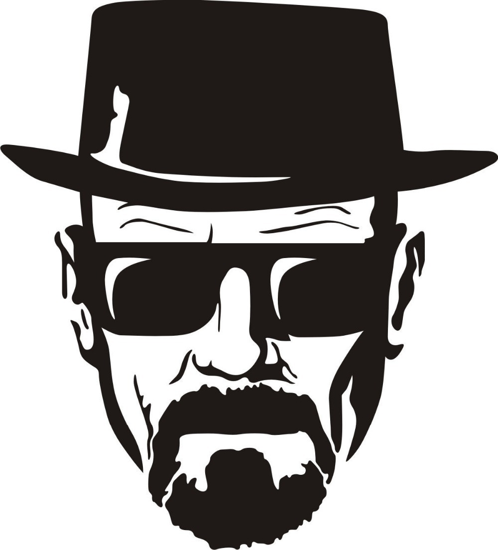 Breaking bad decal heisenberg face wall art sticker vinyl car breaking bad decal heisenberg face wall art sticker vinyl car window decal breaking bad walt white cook sticker in wall stickers from home garden on amipublicfo Choice Image