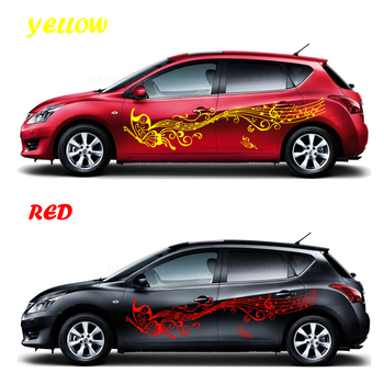 180cm Car Sticker Styling Butterflies Music Score Notes Decal Whole Body Vinyl Decor Car Body Covers Auto Accessories