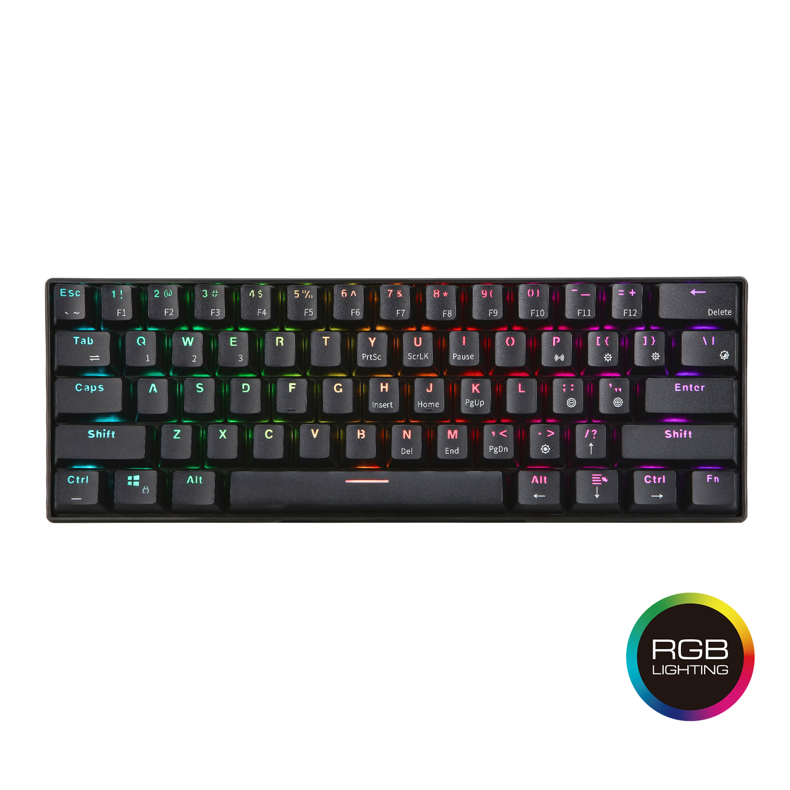 RK61 Wireless Bluetooth Mechanical Gaming Portable 60% Keyboards 61 Keys RGB Single Backlit Backlight Blue Brown Red Switch