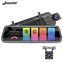 Jansite 10-inch Stream Mirror Car DVR Dual Lens Video Recorders Touch Screen Full HD 1080P Car Cameras Dash Cam Motion Detection jado d800s x6 stream rearview mirror ldws gps track 10 ips touch screen full hd 1080p car dvrs dash cam