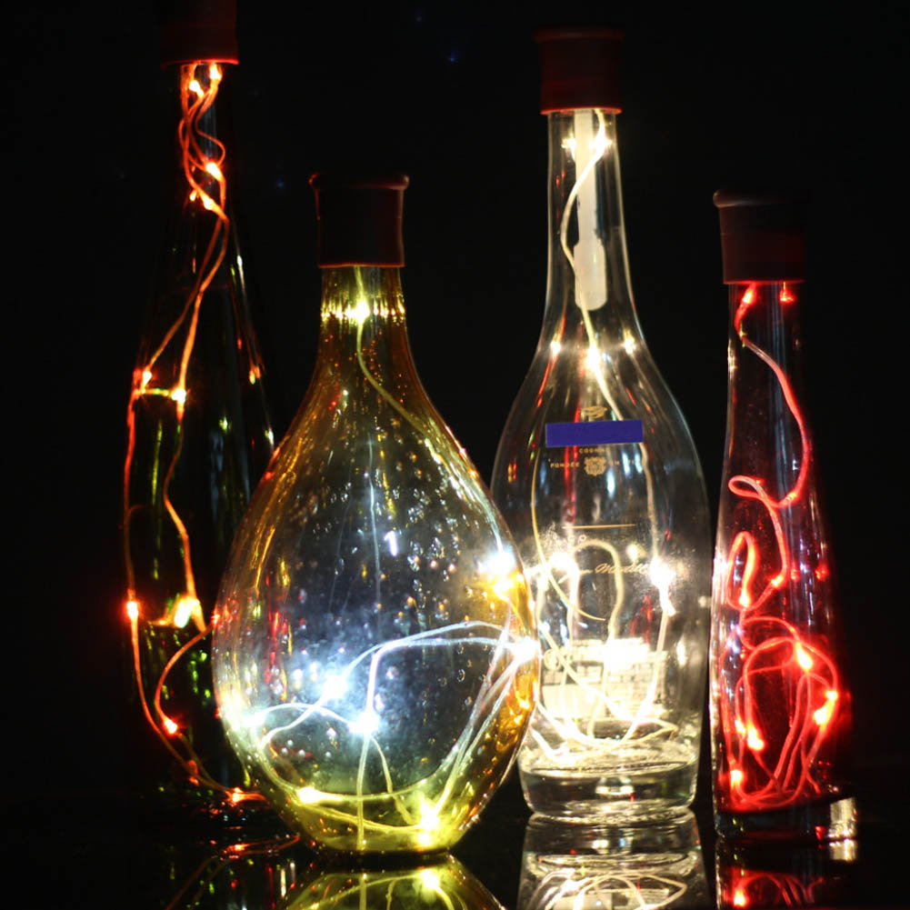Christmas Garland Home Decor Multicolor Wine Bottle Cap Light 3 Mode Cork Shaped Fairy String Light JD9 WWO66