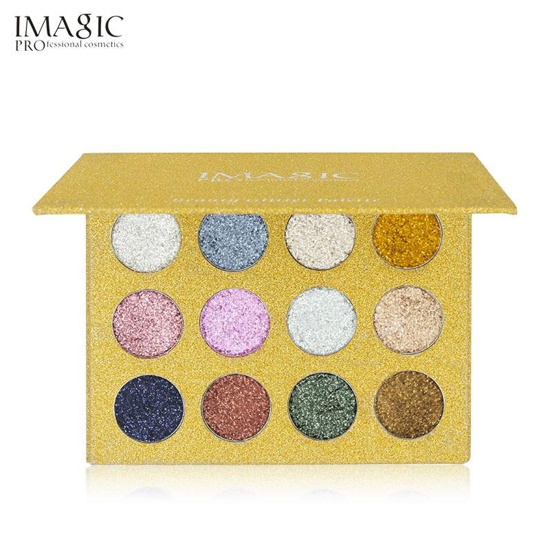 IMAGIC12 Färg Mycket pigmenterad Diamond Glitter Eye Shadow Palette - Smink - Foto 5