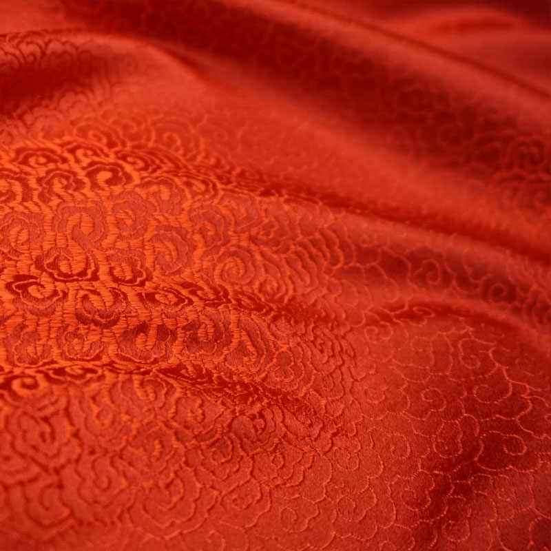 75 centimetri x 100 centimetri di trasporto Metallico Jacquard Brocade Fabric, orange modello vento 3D JACQUARD tinto in filo tessuto per le donne Cappotto Del pannello Esterno Del Vestito