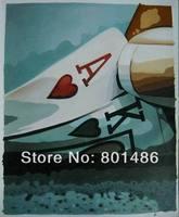 Бесплатная доставка декор стен масляной живописи современного абстрактного искусства картина маслом на холсте Покер искусства Высокого К...