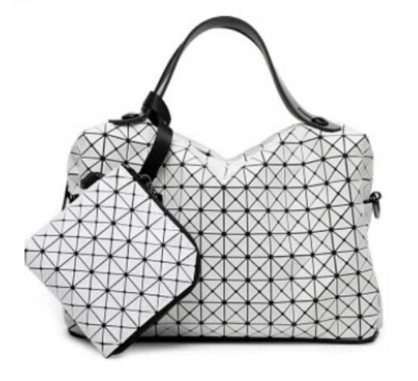 2017 Famous Bao Bao bag Diamond Lattice Fold Over Bags Geometric Women Handbag Tote Bag Fashion Shoulder Messenger Bag baobao rainbow magic rubik s cube tote diamond geometric bao bao high capacity handbag bags women colorful plaid mosaic shoulder bag