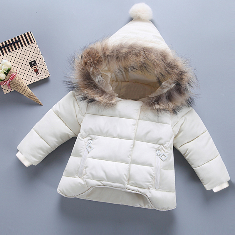 Kids winter jacket with fur 2017 toddler coat simulation fur hood for girl baby boy quilted coat cotton padded parkas thickenQY women s new winter quilted jacket chunky puffer coat full zip spliced sweater hood padded outwear with knit sleeve