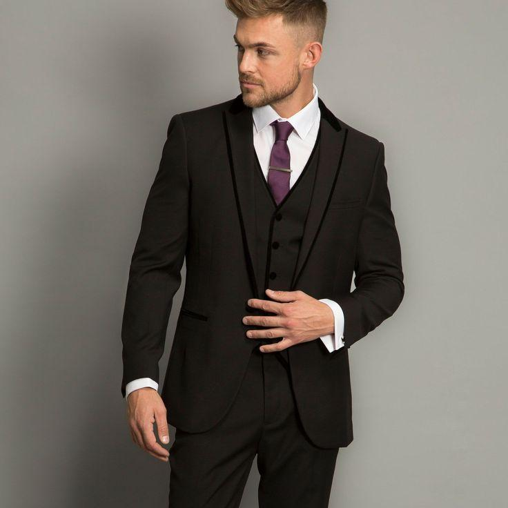 e03a6c7ca Fashionable One Button Charcoal Groom Tuxedos Groomsmen Men's Wedding Prom  Suits Bridegroom (Jacket+Pants+Vest+Tie) K:752