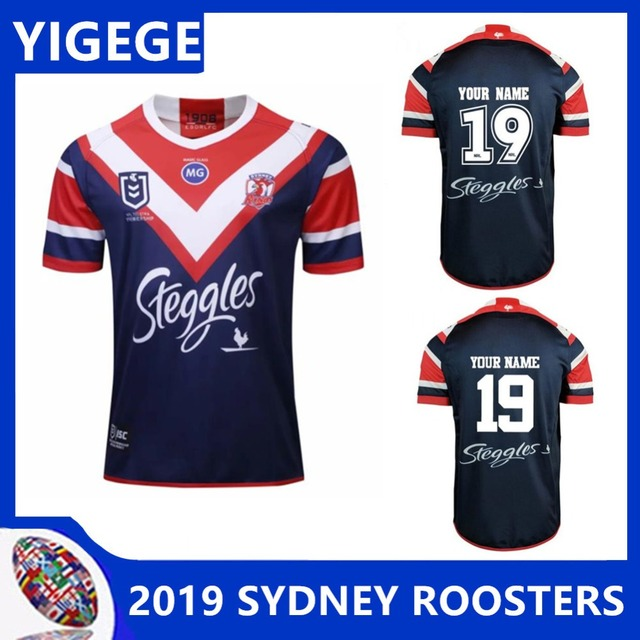 09e391f9858 YIGEGE 2019 SYDNEY ROOSTERS Home rugby Jerseys NRL National League rugby  shirt nrl jersey Australia sydney roosters shirts
