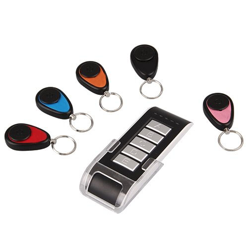 5 in 1 Wireless Lost Key Finder Locator Alarm Keychain 40m