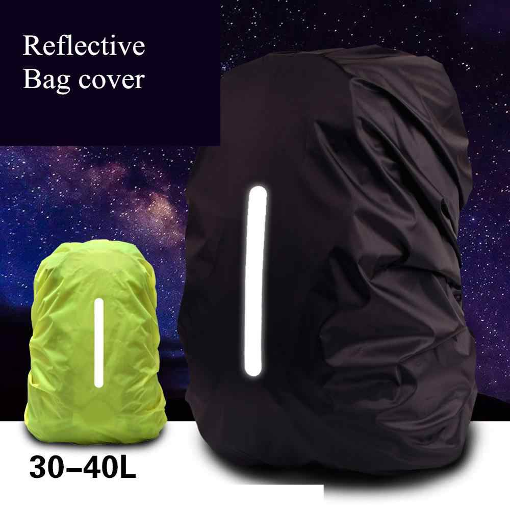 10-40L Reflective Waterproof Backpack Dustproof Outdoor Hiking Backpack Rain cover Ultralight Shoulder Protect bag rain