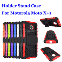 For Moto X2 Shockproof Soft TPU & Hard PC Dual Armor Back Case Stand Holder Cover For Motorola Moto X 2 2nd Gen X+1 2014 X2 5.2