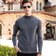 Distinguido Men's Sweater 100% Wool Long Sleeves O-Neck Collar Autumn Winter Thick Smart Casual Man Sweater Pullovers MSW059