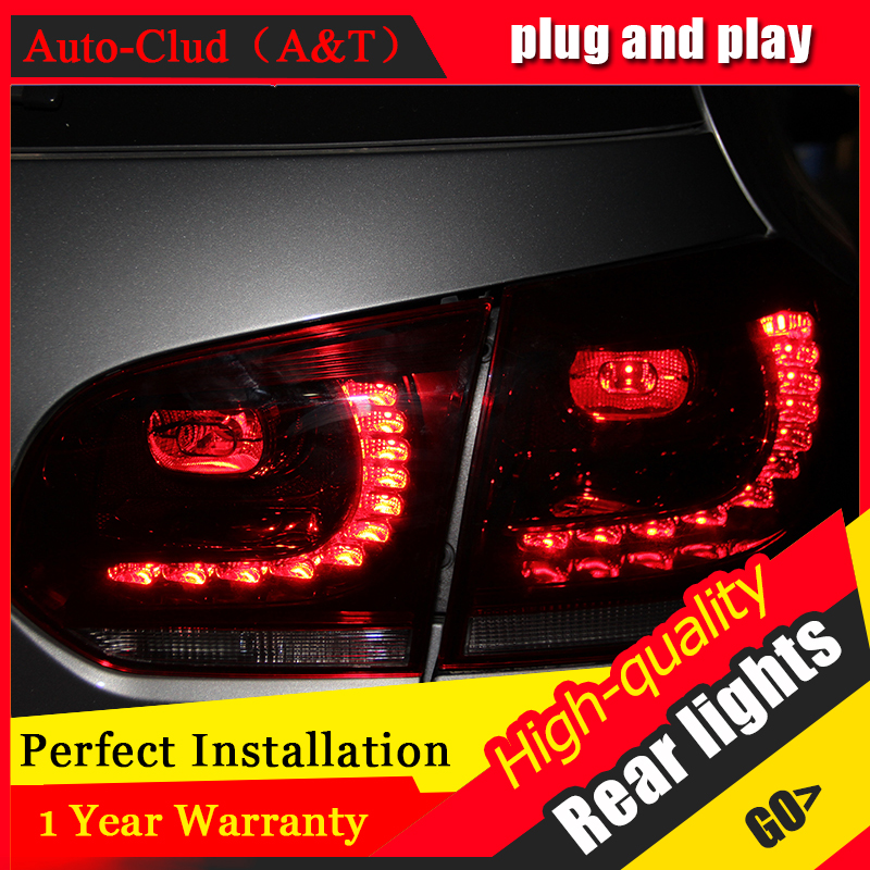 Car Styling for VW Golf 6 Taillights 2009-2012 Golf 6 R LED Tail Lamp Golf6 Rear Lamp LED DRL+Brake+Park+Signal led li jgrt car styling for vw tiguan taillights 2010 2012 tiguan led tail lamp rear lamp led fog light for 1pair 4pcs