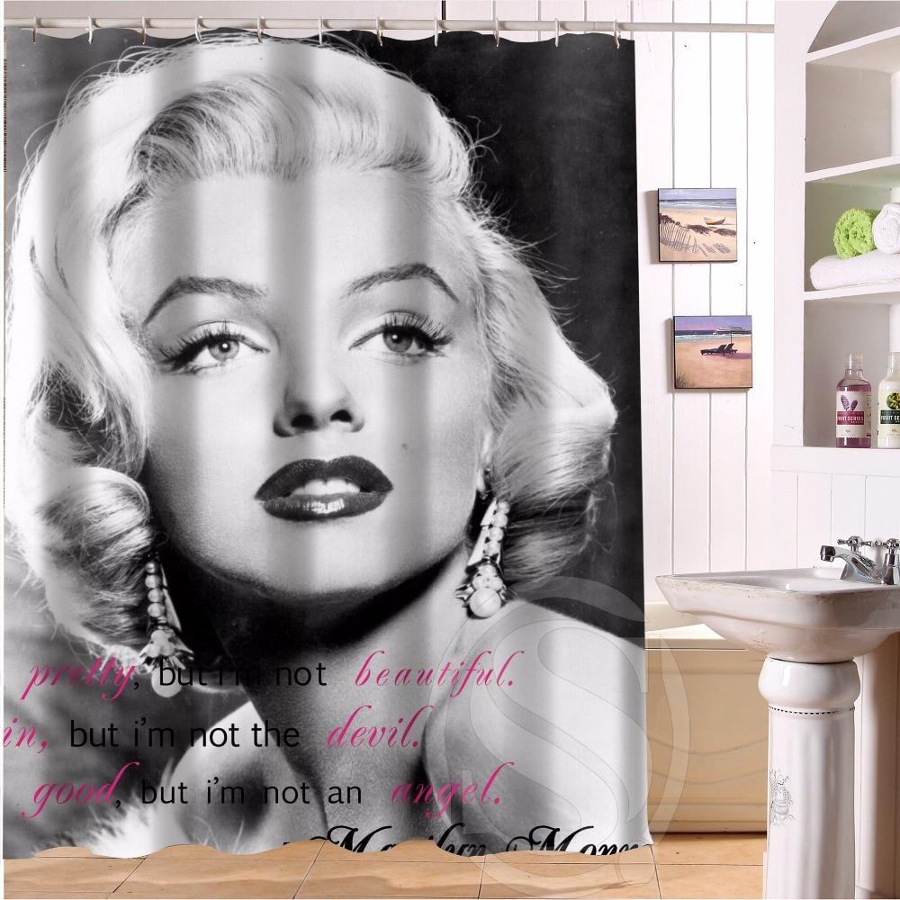 H P 14 Fashion Design marilyn monroe  7 Custom Shower Curtain Bathroom decor  various sizes. Online Buy Wholesale marilyn monroe bathroom decor from China
