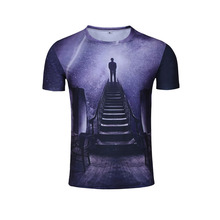YD High Elastic Men Sport Clothing For Summer Printing Design Style Running T-shirt Breathable Quick Dry Men's Sportswear