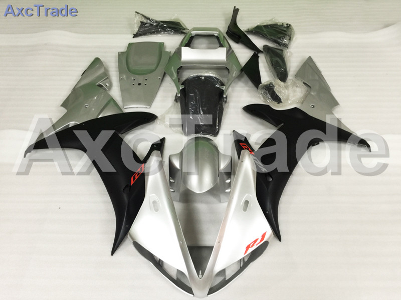 Motorcycle Fairings Kits For Honda CBR600RR CBR600 CBR 600 RR 2005 2006 F5 ABS Plastic Injection Fairing Kit Bodywork Silver abs injection fairings kit for honda 600 rr f5 fairing set 07 08 cbr600rr cbr 600rr 2007 2008 castrol motorcycle bodywork part