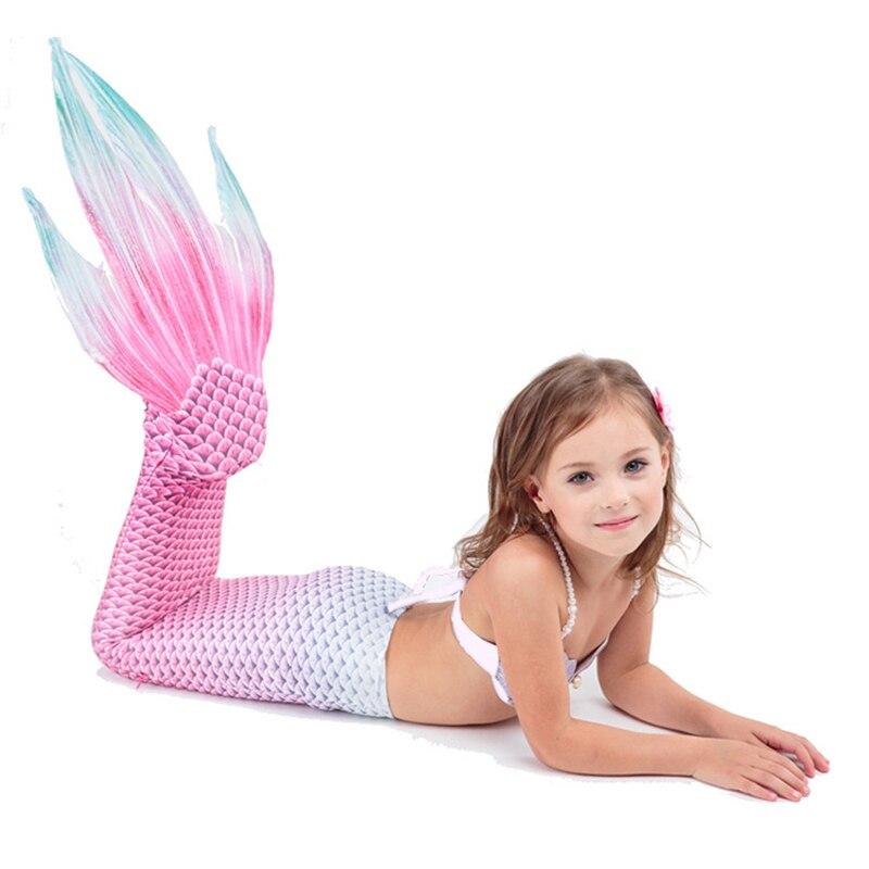 Enfants Sirène Queue Pour Piscine Fille Costume De Natation Sirène Party Maillot De Bain Sirène Queue Zeemeerminst Avec Monopalme Pour Enfants
