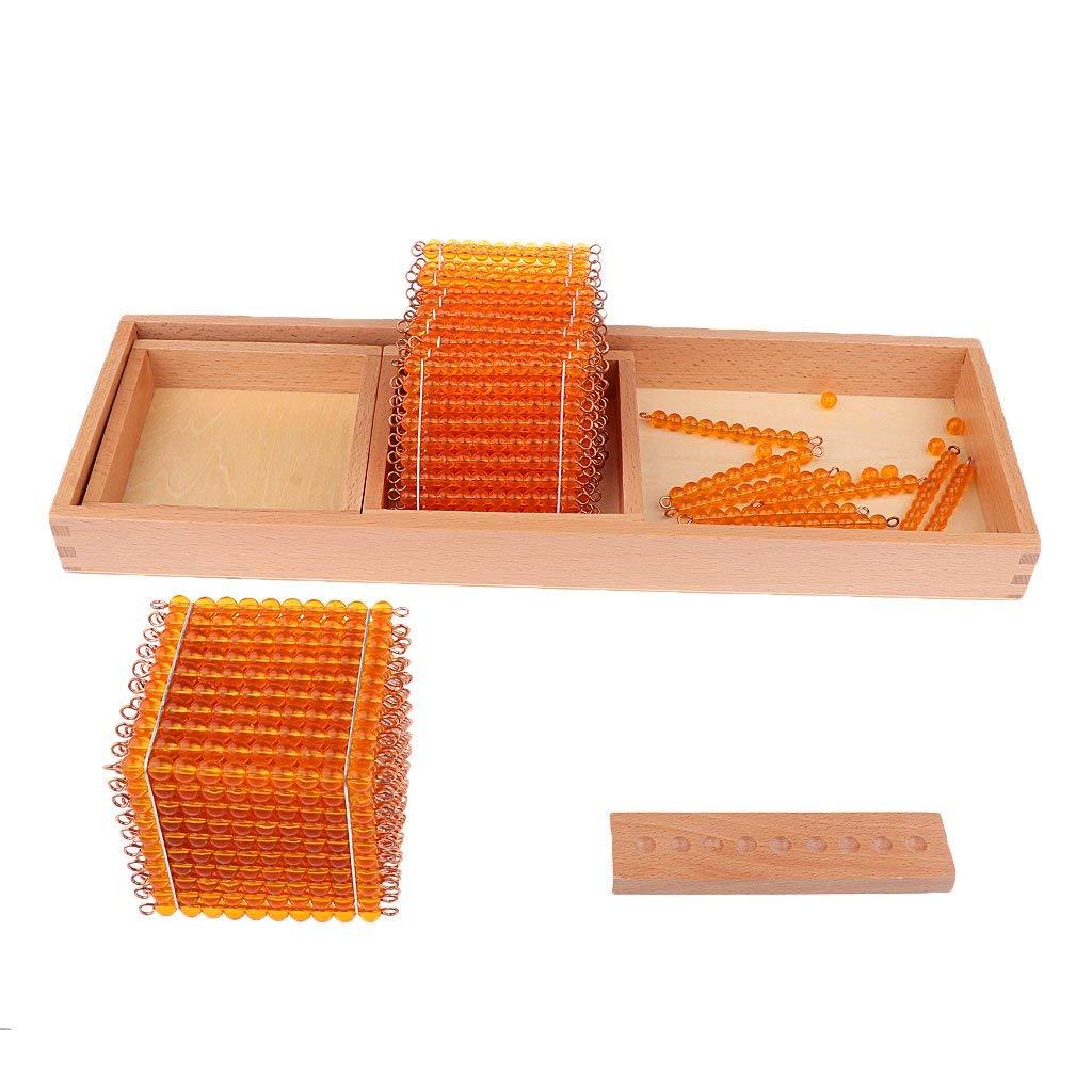 WOTT 1 set jeu éducatif pour enfants Montessori mathématiques jouets d'apprentissage décimal-mille cent dix perles