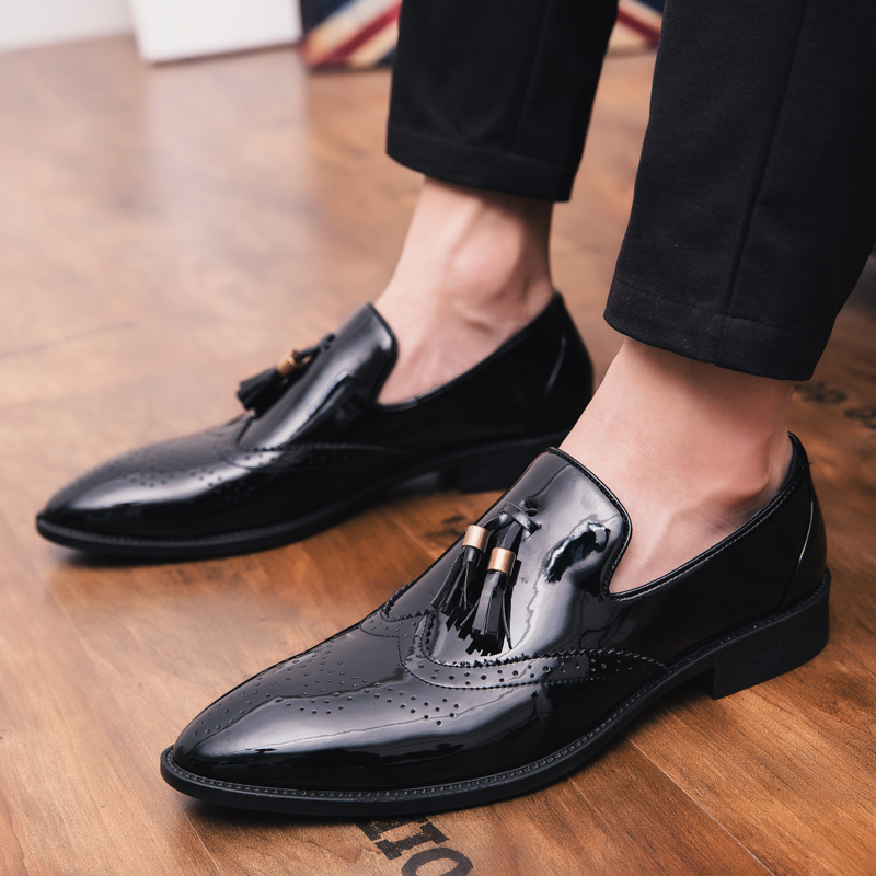 Uomo Leather Style Oxford Fashion Party British Dress black Wedding Office Size Shoes Men Casual Large New 2019 30586 qP8ttR