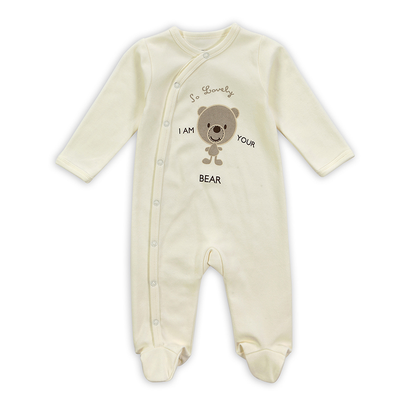 New 2016 Baby Fashion Newborn Baby Girl Boys Long-Sleeve Bear Printed Spring/Autumn Infant Jumpsuit Body Rompers Outfits Clothes baby rompers 2016 spring autumn style overalls star printing cotton newborn baby boys girls clothes long sleeve hooded outfits