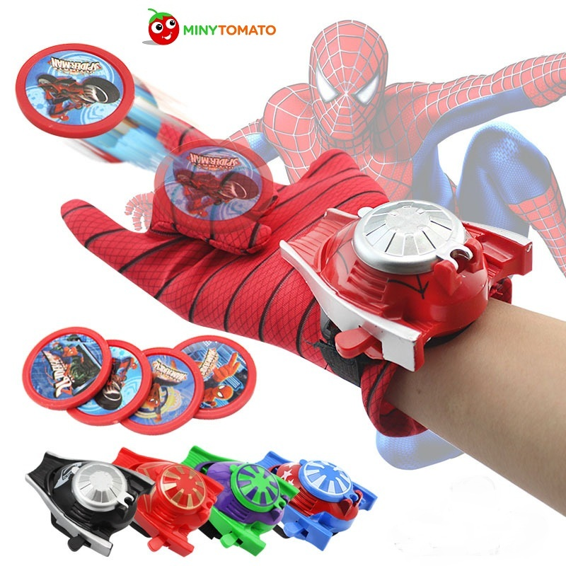Free Shipping 5 styles PVC 24cm Batman Glove Action Figure Spiderman Launcher Toy Kids Suitable Spider Man Cosplay Costume toys thinkeasy 4 styles 24cm movie pacific
