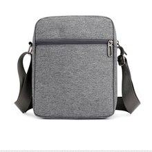 Solid Flap Bag College style Nylon Messenger Bag for Men Contracted Joker Crossbody Bag Lightweight Practical Shoulder Bag