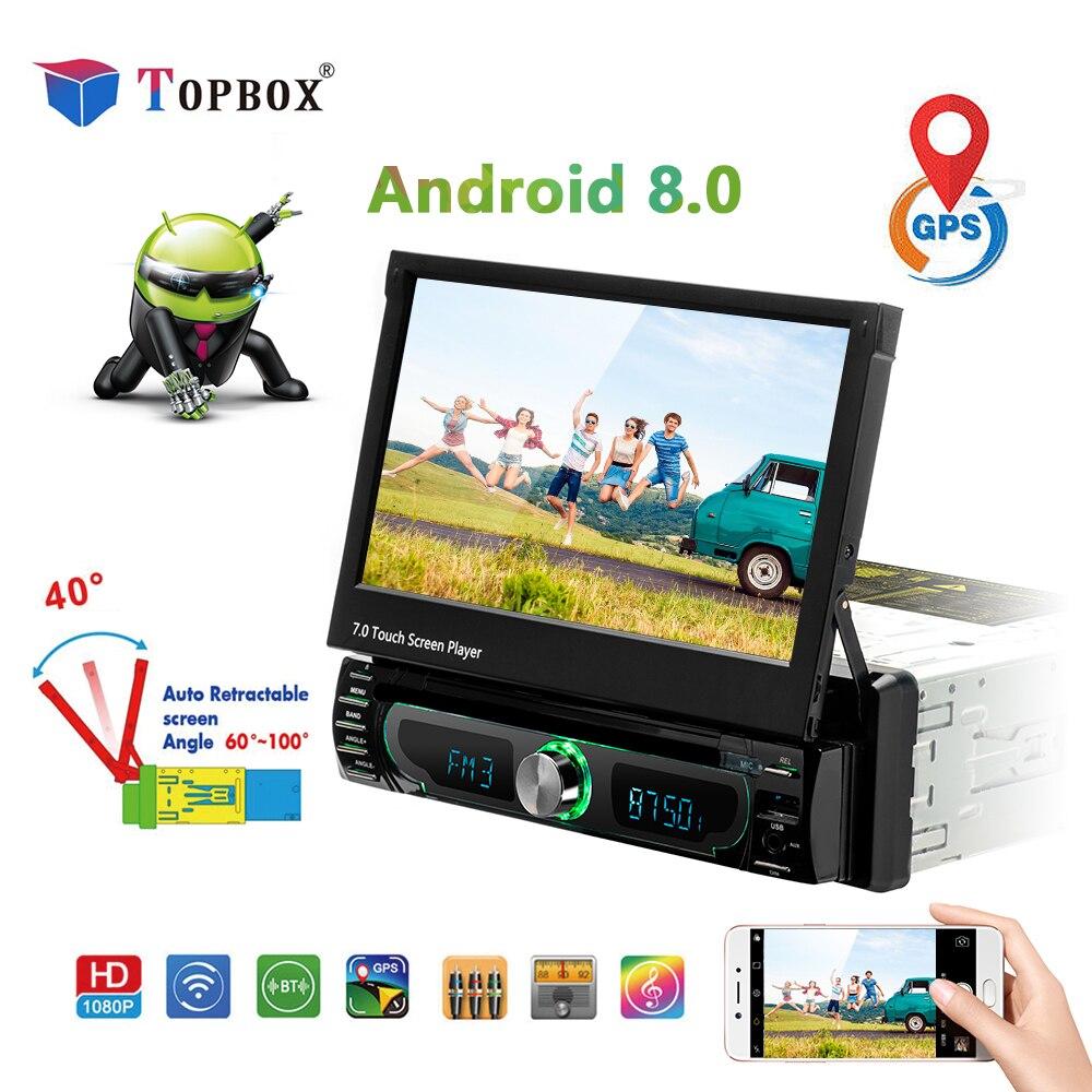 Topbox Autoradio Android Voiture lecteur Multimédia wifi Voiture Radio Stéréo GPS de Navigation Universel De Voiture CD/DVD Lecteur FM SUIS USB