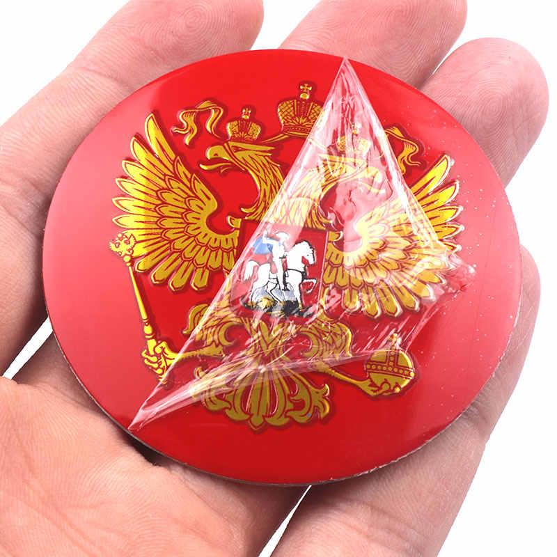 4 Pcs Car styling 56mm Brasão de Armas da Rússia Emblema Car Pneu Da Roda Centro Cap Hub adesivo Russa federação Águia Decalque Emblema