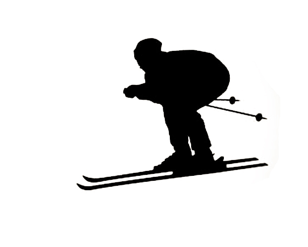 Cacar sports wall sticker decal quote vinyl ski skier silhouette room wall decor decal