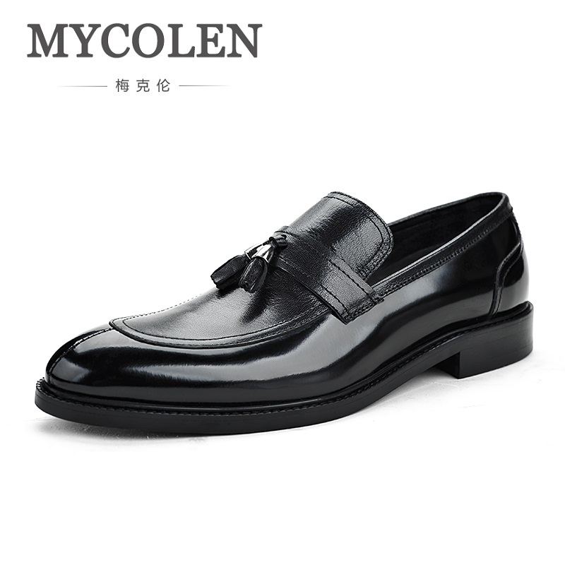 MYCOLEN 2018 New Style Handmade Loafers Mens Classic Shoes Tassel Fashion Party Dress Men Shoes Zapatos De Charol HombreMYCOLEN 2018 New Style Handmade Loafers Mens Classic Shoes Tassel Fashion Party Dress Men Shoes Zapatos De Charol Hombre
