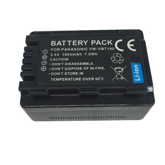 VW-VBT190 VW VBT190 VW-VBT380 lithium battery For Panasonic HC-V110 HC-V130 HC-V160 HC-V180 HC-V201 HC-V210 HC-V230 HC-V250 5