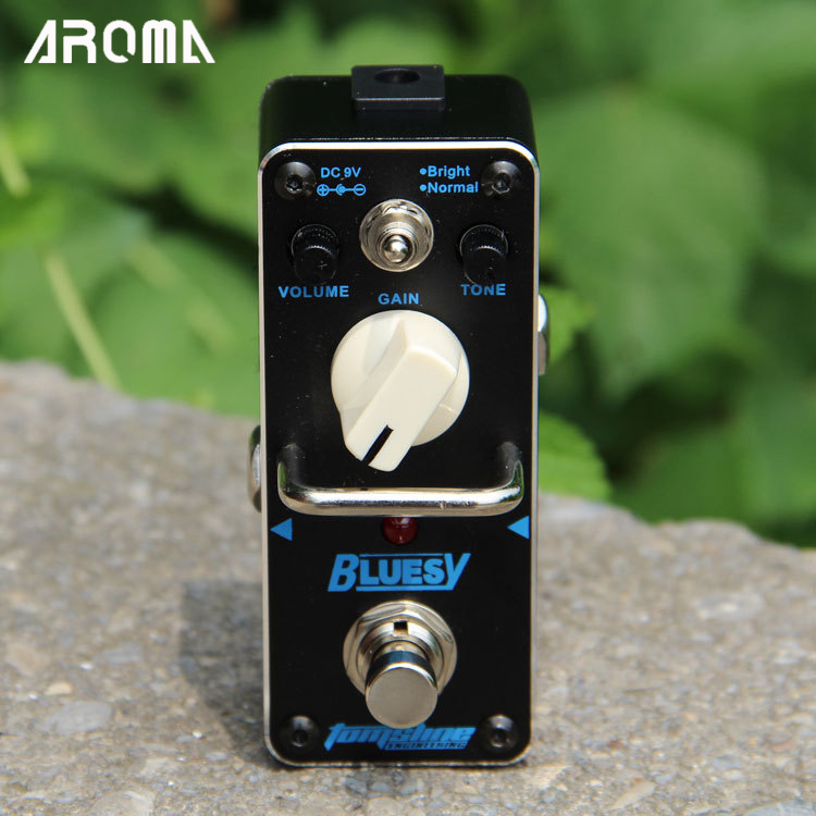 ФОТО AROMA ABY-3 BLUESY Vintage overdrive for blues Mini Analogue Effect True Bypass