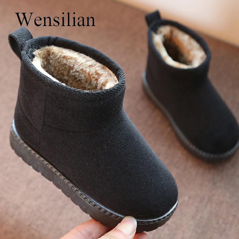 45db84528 Botas de fieltro de moda para niños botas de nieve calientes para niños  zapatos de felpa suave Fondo de las muchachas botas de invierno Chaussure  Fille Bota ...
