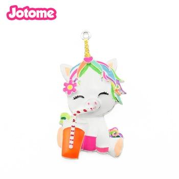 20pcs/lot free shipping handmade cartoon cute unicorn enamel pendant charm for party/gift decoration