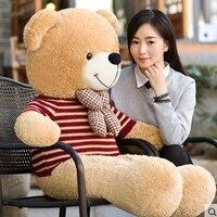 1,8 м синий/красный полосатый свитер большой медведь гигантский плюшевый мишка игрушка подарок плюшевые мягкие чучело медведя высокое качес