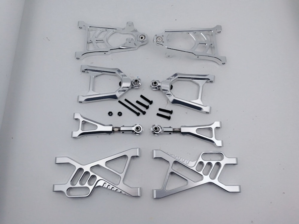 CNC Alloy suspension Front and rear Arm Set with mounting screws for 1/5 hpi baja 5b ss parts KM ROVNA цена