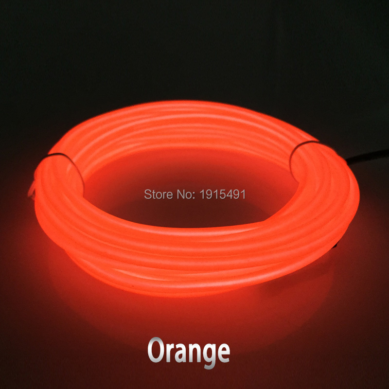 ФОТО Hot sales 15Meter 3.2mm 10 Colors Select EL wire glowing cut into any length Holiday light,Powered by DC5V Drives For Car Decor