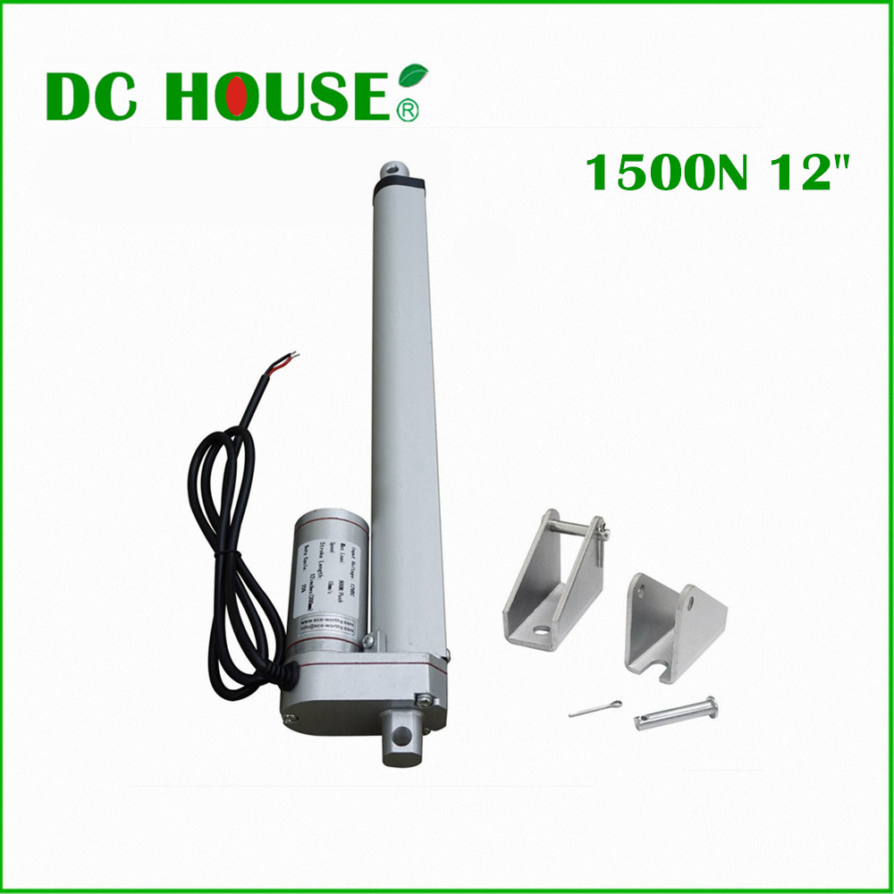 300mm/12inch Stroke Heavy duty DC 12V 1500N/330lbs Load Linear Actuator multi-function 12 Electric Motor ys 138no nc ansi standard heavy duty electric strike size 124 x 32 x 33 mm