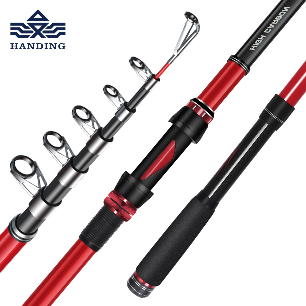 Handing new telescopic sea Fishing Rod High Carbon fiber surf casting rod Super Hard Fishing pole with full metal reel seat handing telescopic sea fishing rod reel full kit combo high carbon super hard portable sea fishing pole spinning rod reel set