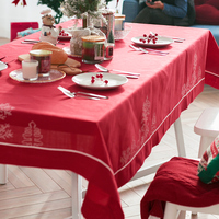 Christmas Linen Tablecloth Simple Living Room Table Cloth Cloth Cover Party Red Festival Table Mat